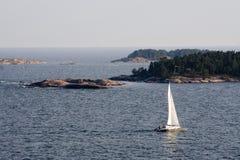 baltisk havsyacht Fotografering för Bildbyråer
