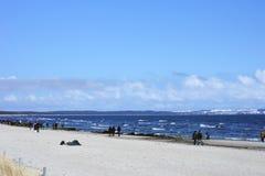 Baltisk strand Binz arkivbild