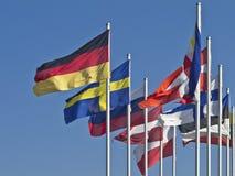 Baltiska flaggor Arkivbild