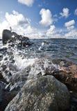 baltiska havswaves Arkivfoton