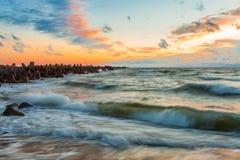 Baltiska vågor Fotografering för Bildbyråer