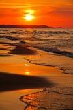 baltiskt över havssolnedgång Fotografering för Bildbyråer