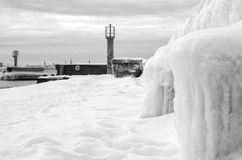 Baltiskt hav för vinter Arkivfoton