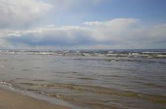 Baltiskt hav i området av Jurmala fotografering för bildbyråer