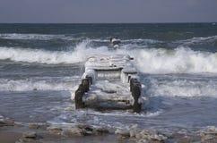 Baltiskt hav i vinter Fotografering för Bildbyråer