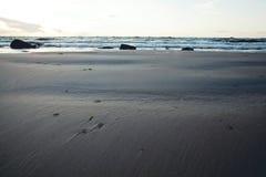 Baltiskt hav på skymning Arkivbild