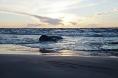 Baltiskt hav på skymning Royaltyfri Fotografi