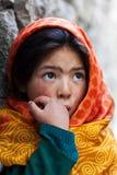 从Baltistan,拉达克的女小学生 免版税图库摄影