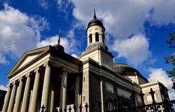 Baltmore, MD :1821巴尔的摩大教堂 图库摄影