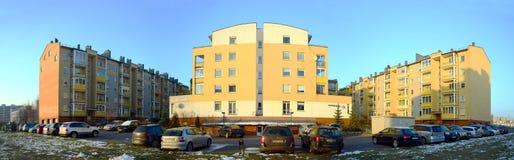 Baltrusaiciostraat in Vilnius in middagtijd op 24 November, 2014 royalty-vrije stock foto's