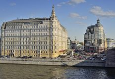 Baltschug Kempinski Hotel. Moscow, view of the hotel Baltschug Kempinski Moscow River Stock Photography