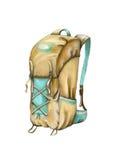 baluchon icône de croquis de voyage illustration libre de droits