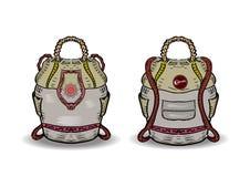 baluchon Image de vecteur de sac à dos de touristes illustration libre de droits