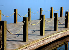 Baluster. Wood baluster by a lake in Sichuan,west of China stock photo