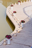 Baluster. Stone baluster by a lake in nanning of China stock photo