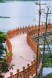 Baluster. Wood baluster by a lake in nanning of China royalty free stock image