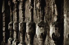Baluster (bas-relief), the architectural element. Closeup image royalty free stock photography