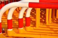 Baluster do segregate do tráfego na pilha imagem de stock