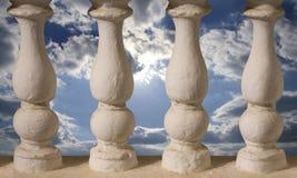 Baluster ou colunas e céu pequenos atrás dele fotografia de stock royalty free