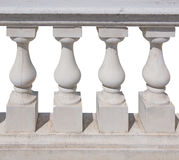 Baluster spindle (balaustrade) isolated over white Stock Photography