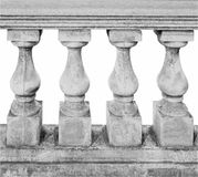 Baluster spindle (balaustrade) isolated over white. A baluster - aka spindle or stair stick or balaustrade isolated over white background stock images
