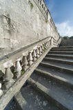 Baluster and staircase. Stone baroque baluster and staircase royalty free stock image