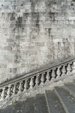 Baluster and staircase. Stone baroque baluster and staircase stock photo