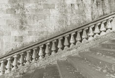 Baluster and staircase. Stone baroque baluster and staircase royalty free stock photography