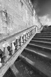 Baluster and staircase. Stone baroque baluster and staircase stock photos