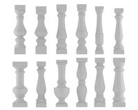 Baluster. Various types and styles Royalty Free Stock Photo