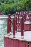 Baluster vermelho fotografia de stock royalty free