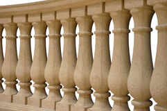 Balusters. Stone balustrade railing in beige royalty free stock photography