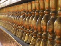 Balusters dourados fotografia de stock royalty free