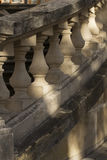 Balusters in the sun light. Concrete balusters in the sun light Stock Photos