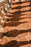 Balusterschatten, Tlaquepaque in Sedona, Arizona Lizenzfreies Stockbild