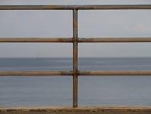 Balustrad på stranden Royaltyfri Fotografi