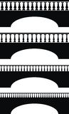 balustrada antyczny most Zdjęcie Stock