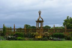 Balustrada, Montacute dom, Somerset, Anglia zdjęcie royalty free