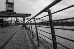 Balustrada w Wschodniej przystani Frankfurt Obrazy Stock
