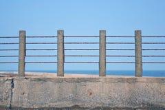 Balustrada z morzem Zdjęcie Stock