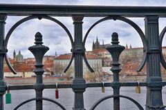 Balustrade à Prague photos stock