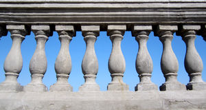 Balustrade. On sky background,cement  on background blue sky Stock Photography