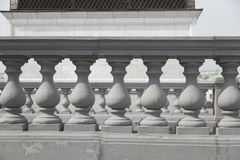 A balustrade. Architectural element - a balustrade,close up Stock Image