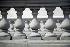 A balustrade. Architectural element - a balustrade,close up Royalty Free Stock Photo