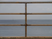 Balustrade at beach. In Siracusa Royalty Free Stock Photography