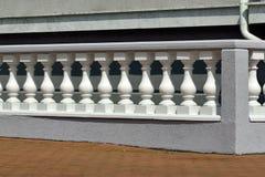 Balustrade. Beautiful white balustrade on the lakeside promenade stock photography
