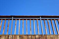 Balustrade. Isolated on blue sky Royalty Free Stock Photo