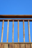 Balustrade. On blue sky Stock Photos