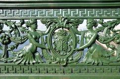 Balustrade de pont de Liteiny, St Petersburg Photo stock