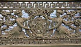 Balustrade de pont de Liteyny Images stock